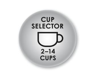 Ρυθμίσεις ποσότητας καφέ για 2-14 φλιτζάνια