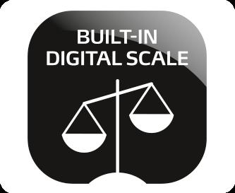 Ενσωματωμένη ψηφιακή ζυγαριά για άλεση ακριβείας γραμμαρίου
